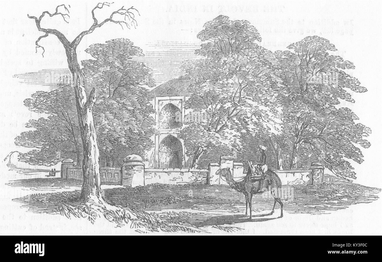 Il pakistan Mussulman tomba, Battalla Punjab 1857. Illustrated London News Immagini Stock