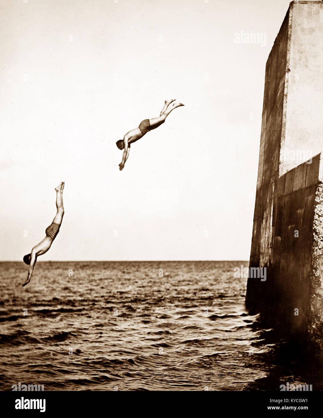 High diving, PERIODO VITTORIANO Foto Stock