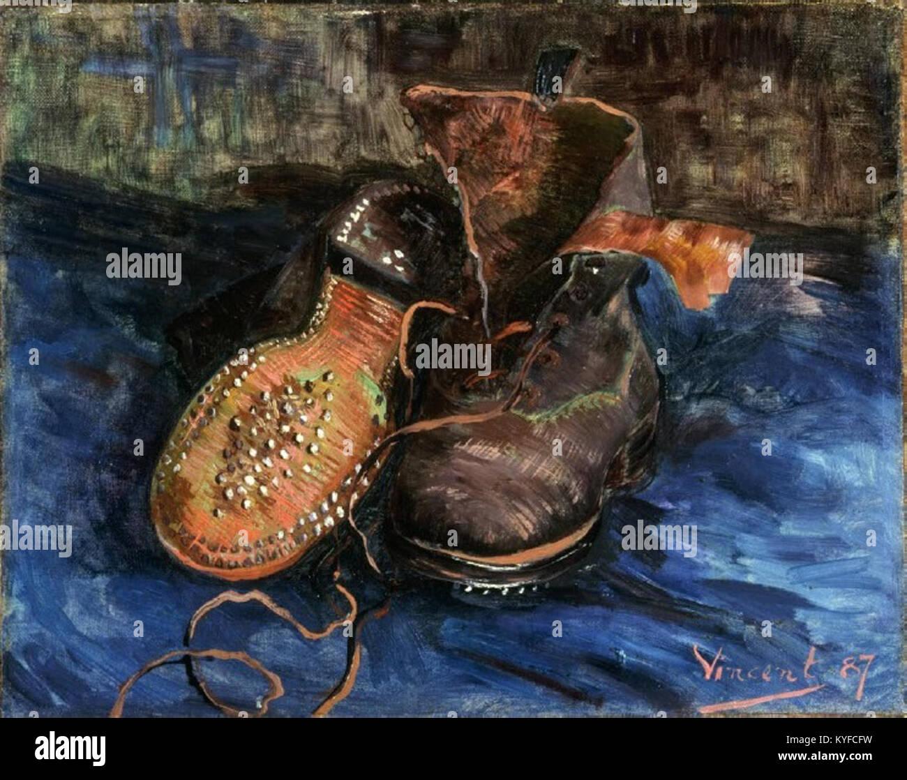 Vincent van Gogh un paio di scarpe (1887 Foto & Immagine