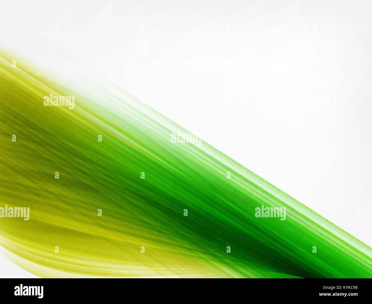 Abstract Strisce Vettore Incandescente Sfondo Verde E Giallo