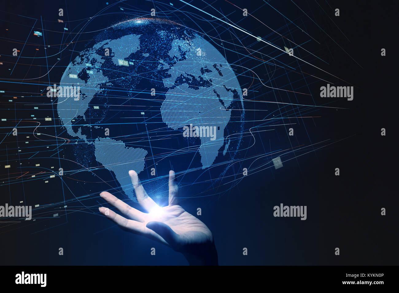 Rete globale del concetto. Immagini Stock