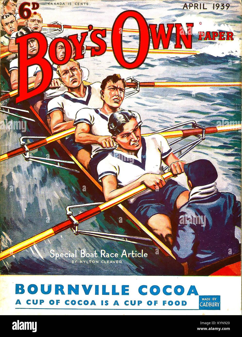Ragazzi proprio coperchio carta Aprile 1939 Immagini Stock