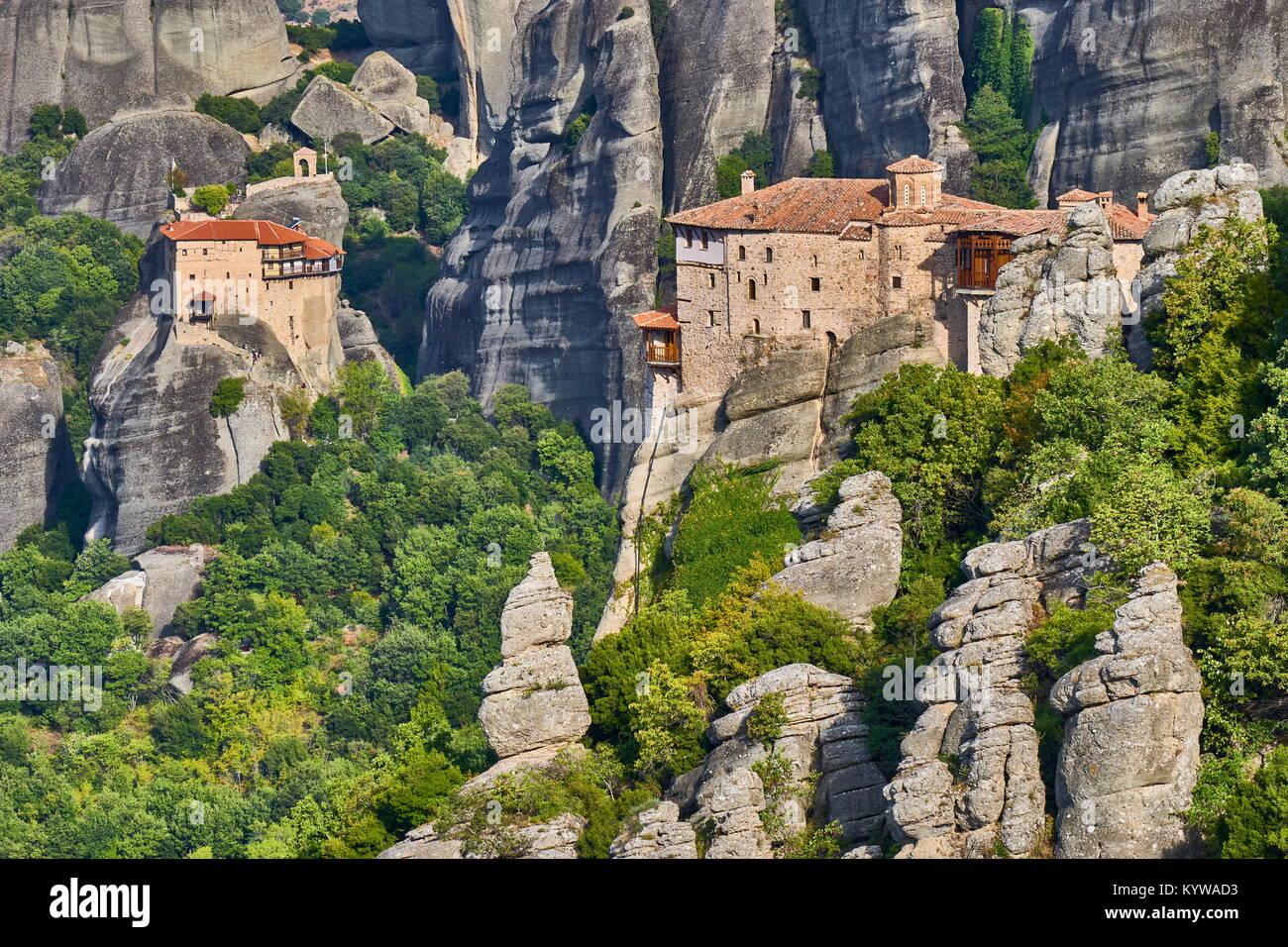 Grecia - Monastero Roussanou, Meteora Immagini Stock