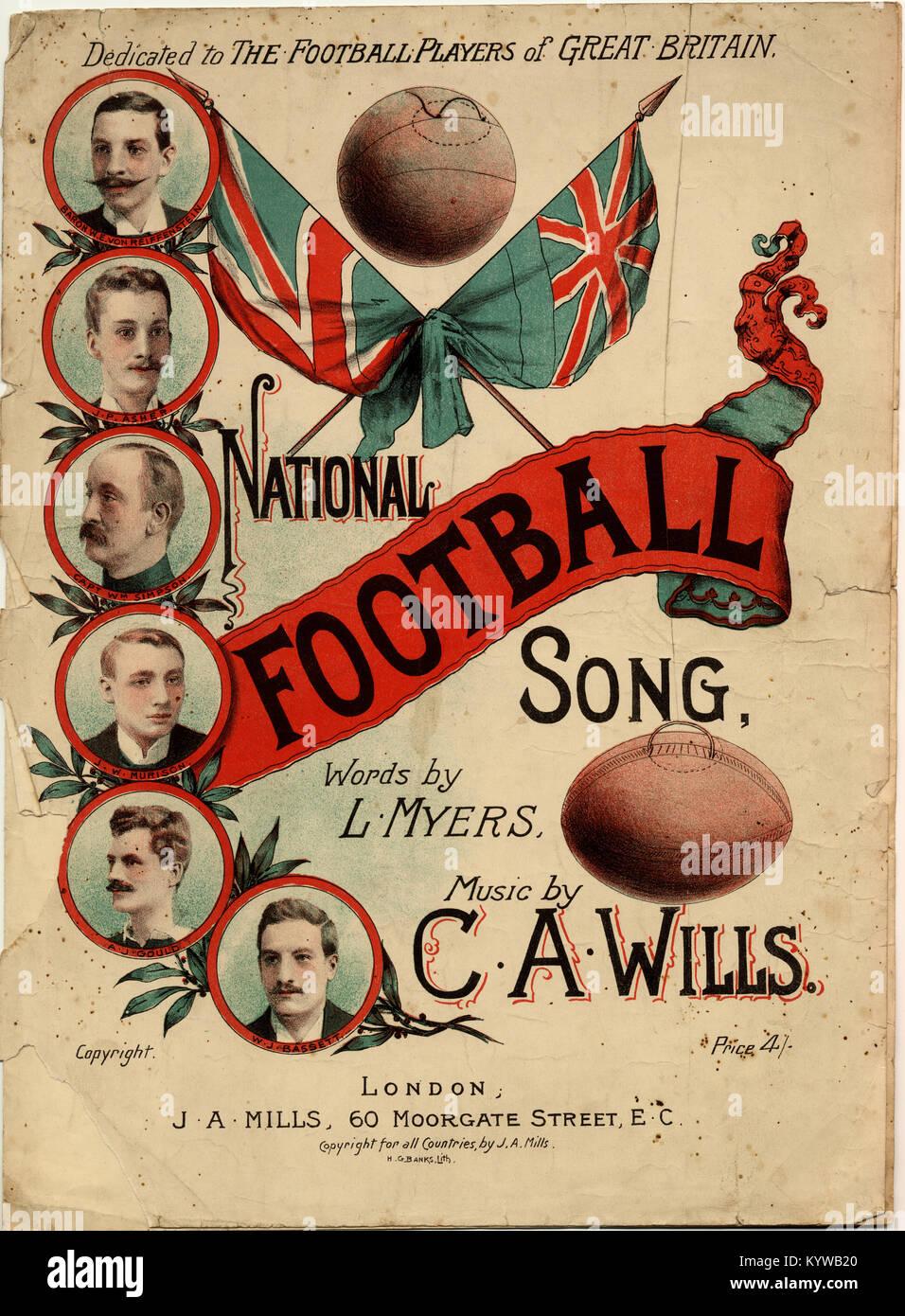 Nazionale di calcio per Song-Dedicated il calcio di coetanei di Gran Bretagna Immagini Stock
