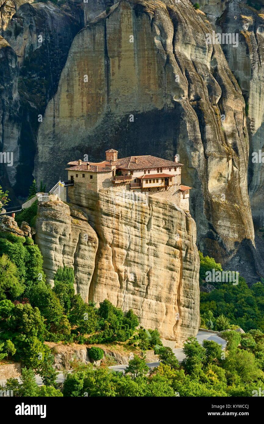 Roussanou Meteora Monastero, Grecia Immagini Stock
