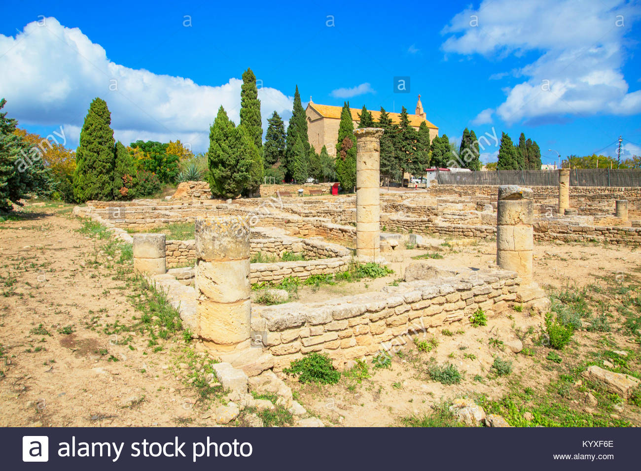 Pollentia rovine romane, Alcudia Maiorca, isole Baleari, Spagna, Europa Immagini Stock