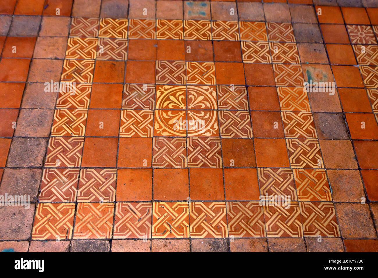 Blois francia circa giugno decorative piastrelle per