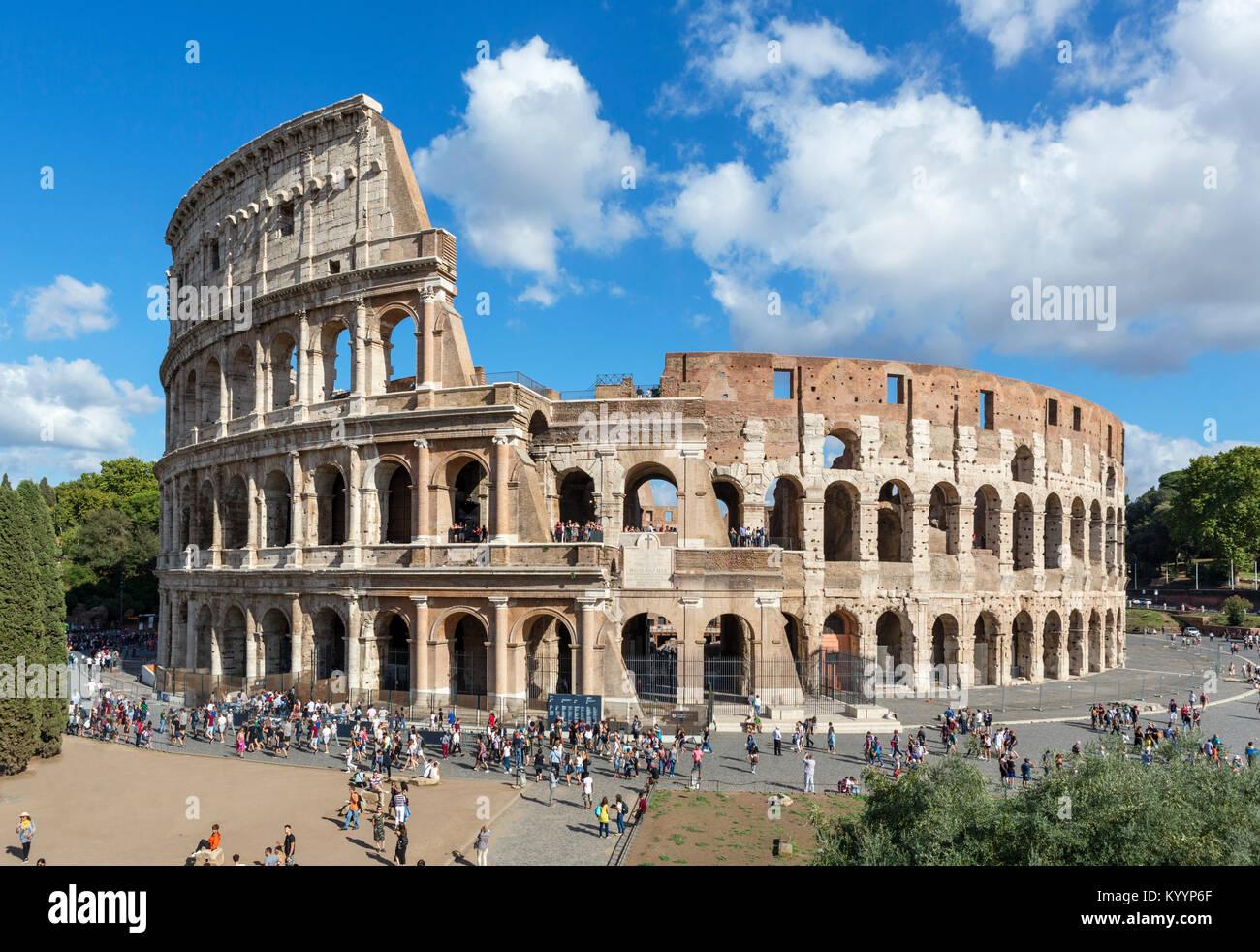 Il Colosseo romano, Roma, Italia Immagini Stock