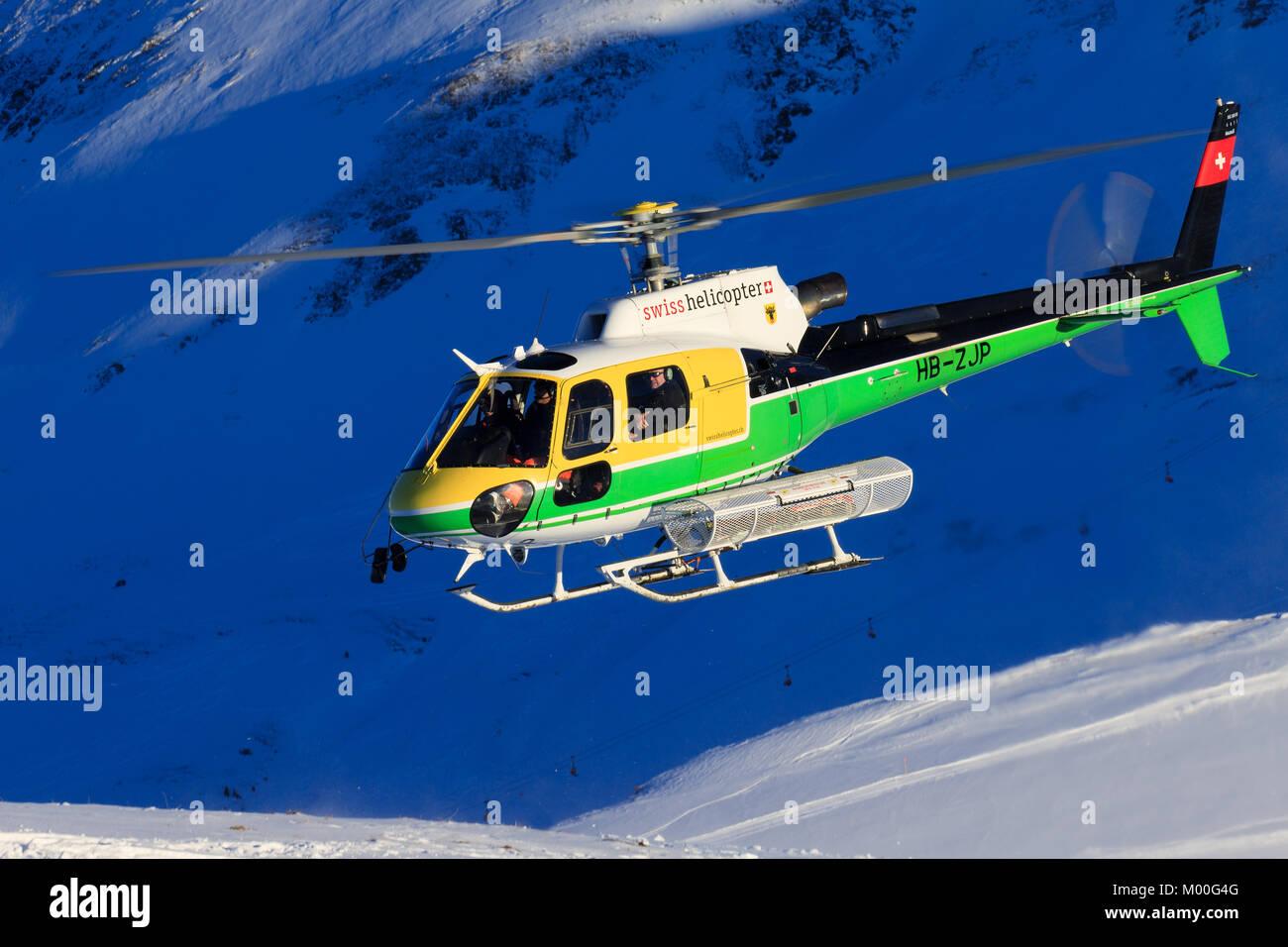 Elicottero B3 : Lauberhorn schwitzlerand gennaio eurocopter as b hb