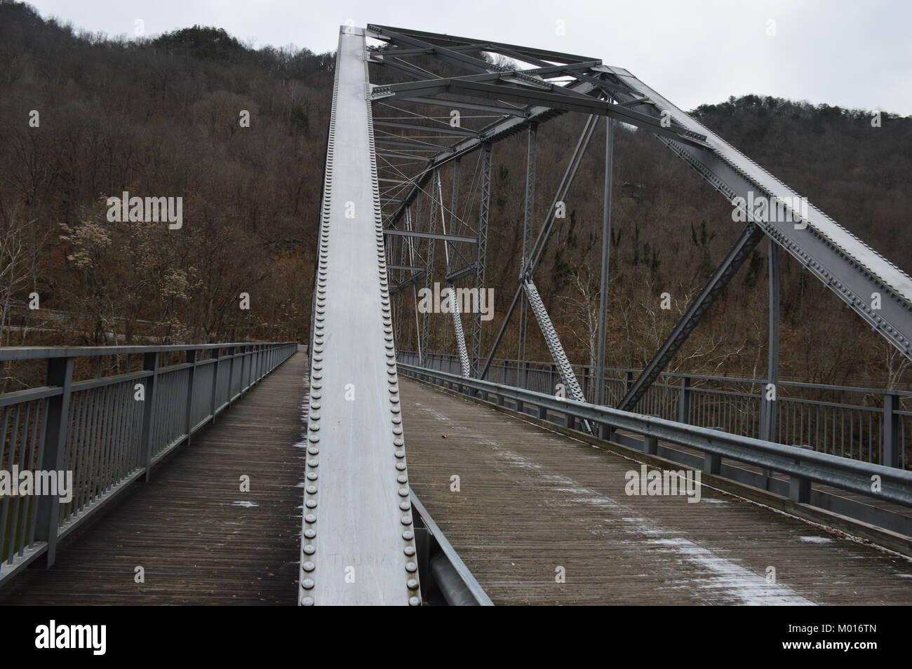 Una foto del New River Gorge bridge Immagini Stock
