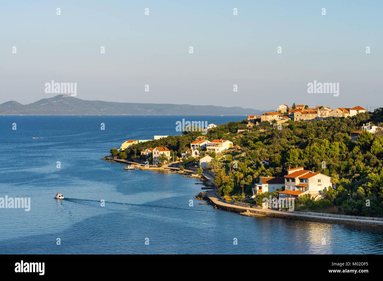 L'estate sull'isola Iz, Croazia Immagini Stock
