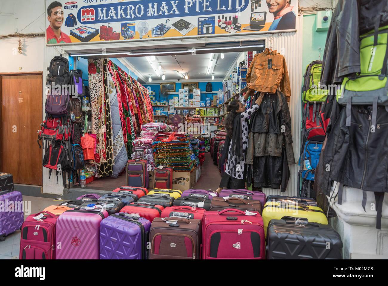 Per le strade di Little India, Singapore Immagini Stock