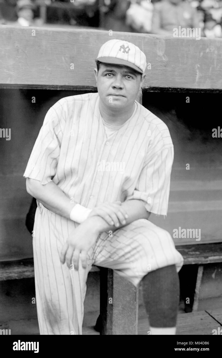 """Il Babe Ruth. Il baseball americano player George Herman """""""" Babe Ruth Jr. (1895-1948), per la riproduzione Immagini Stock"""
