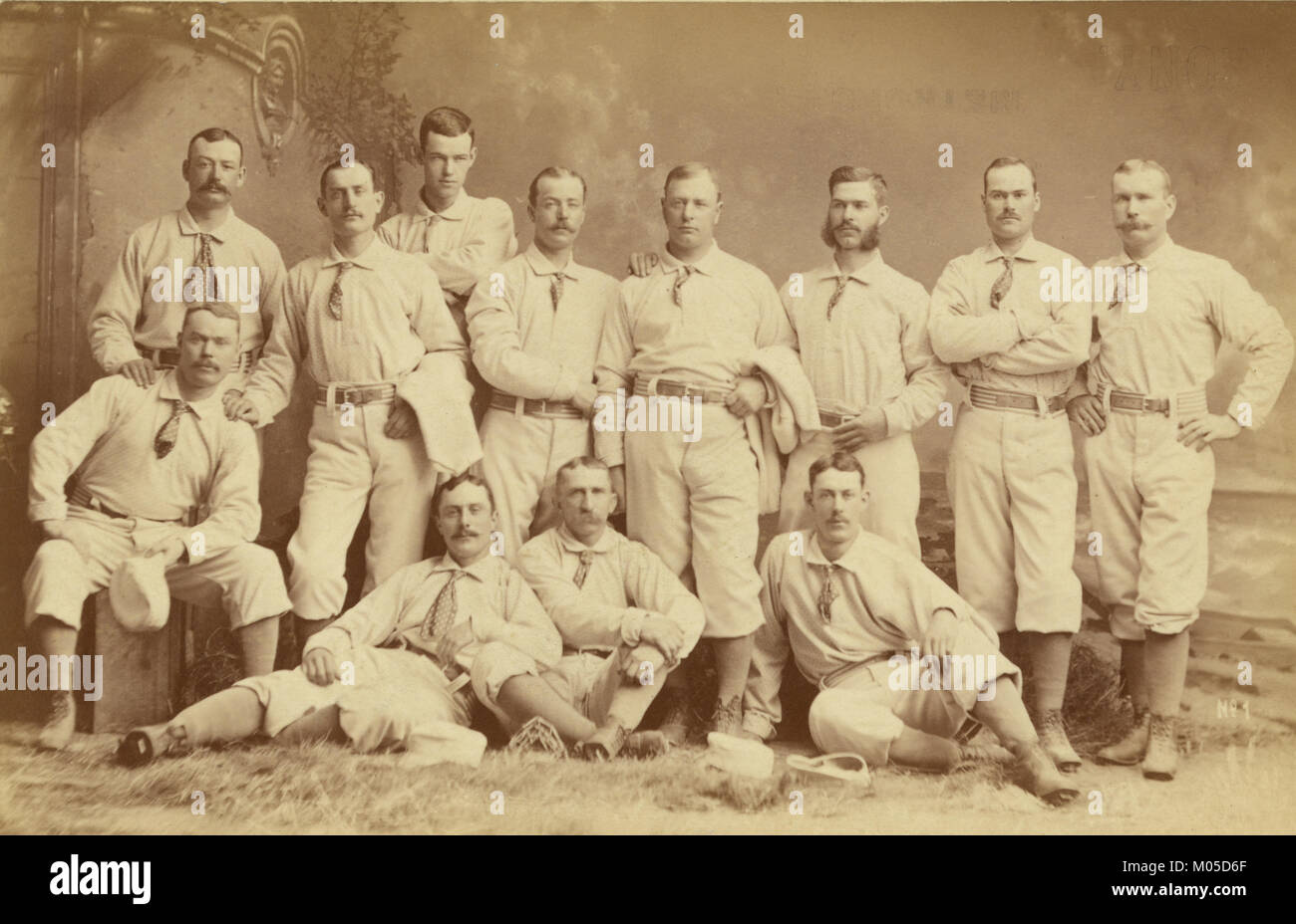 Metropolitan baseball nove 1882 Immagini Stock