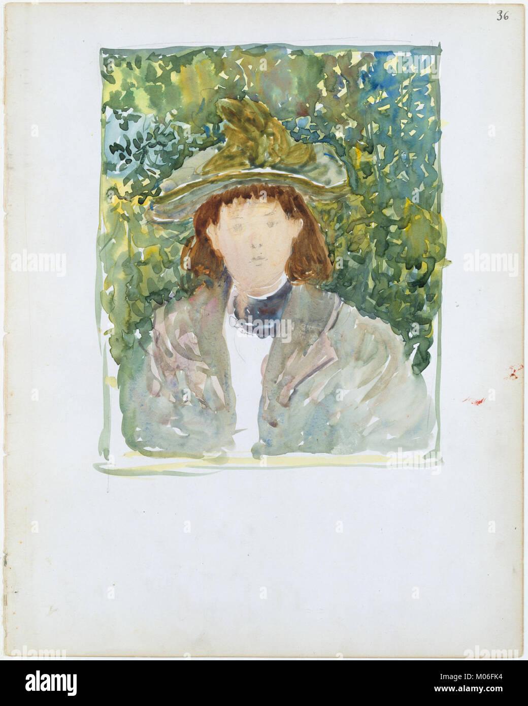 Grande Boston Public Garden Sketchbook- una donna con i capelli rossi che  indossa un verde 8a71cffe7cf6