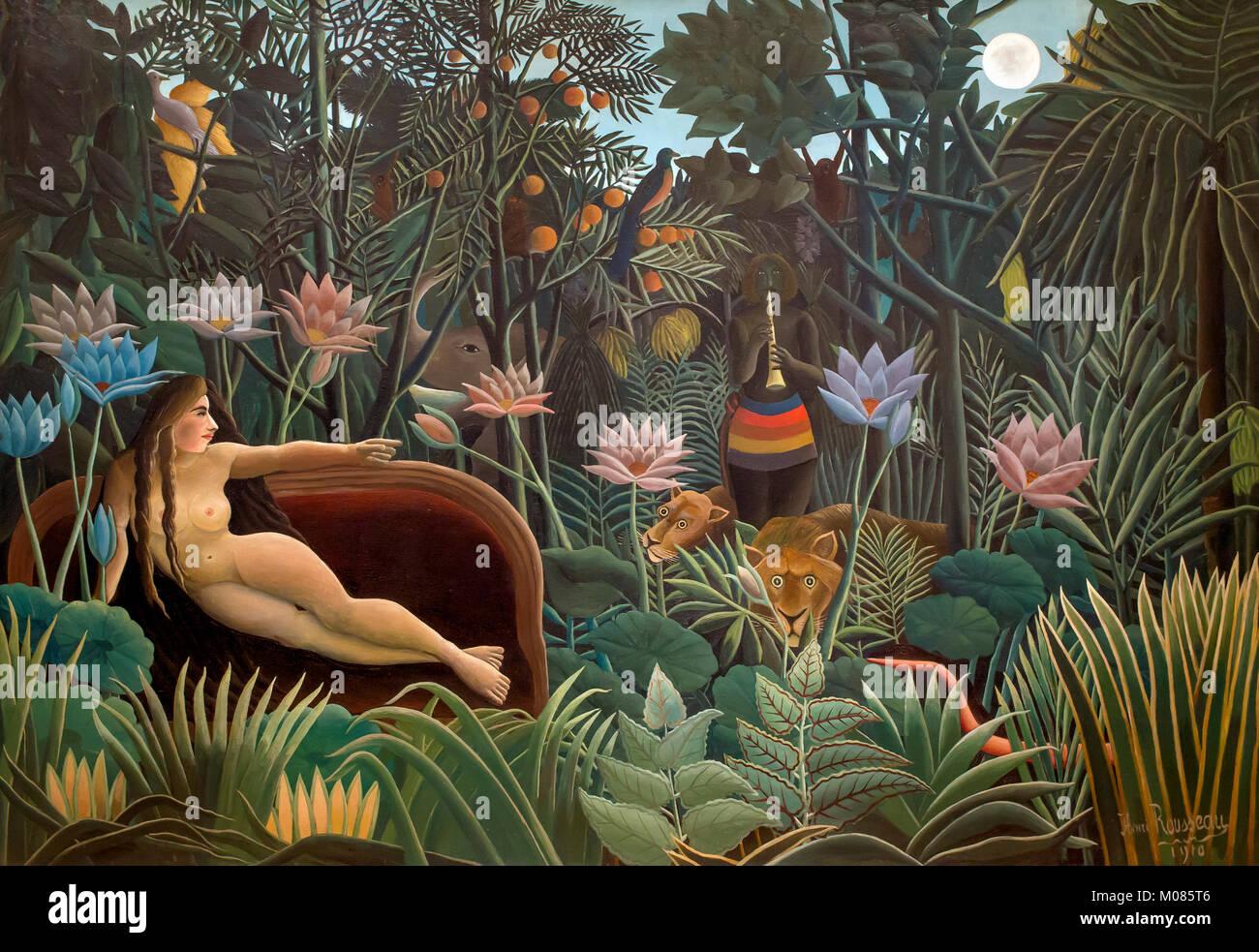 Il sogno, Henri Rousseau, 1910, Immagini Stock