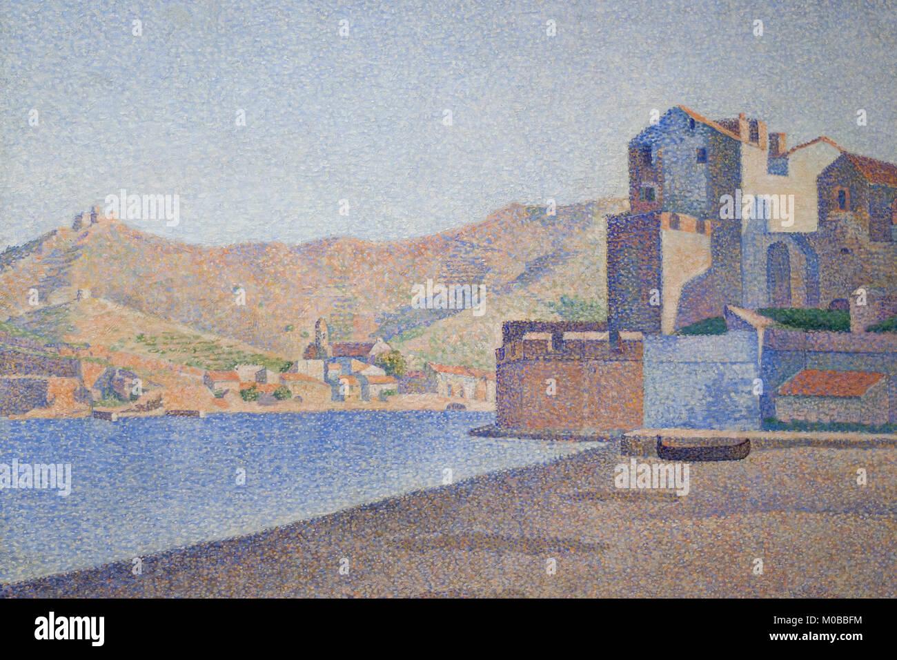 Vista di Collioure Immagini Stock
