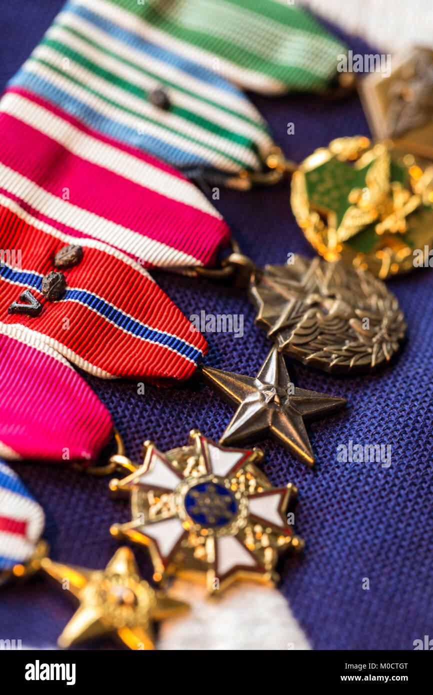 Stati Uniti Veterano di medaglie militari Foto & Immagine