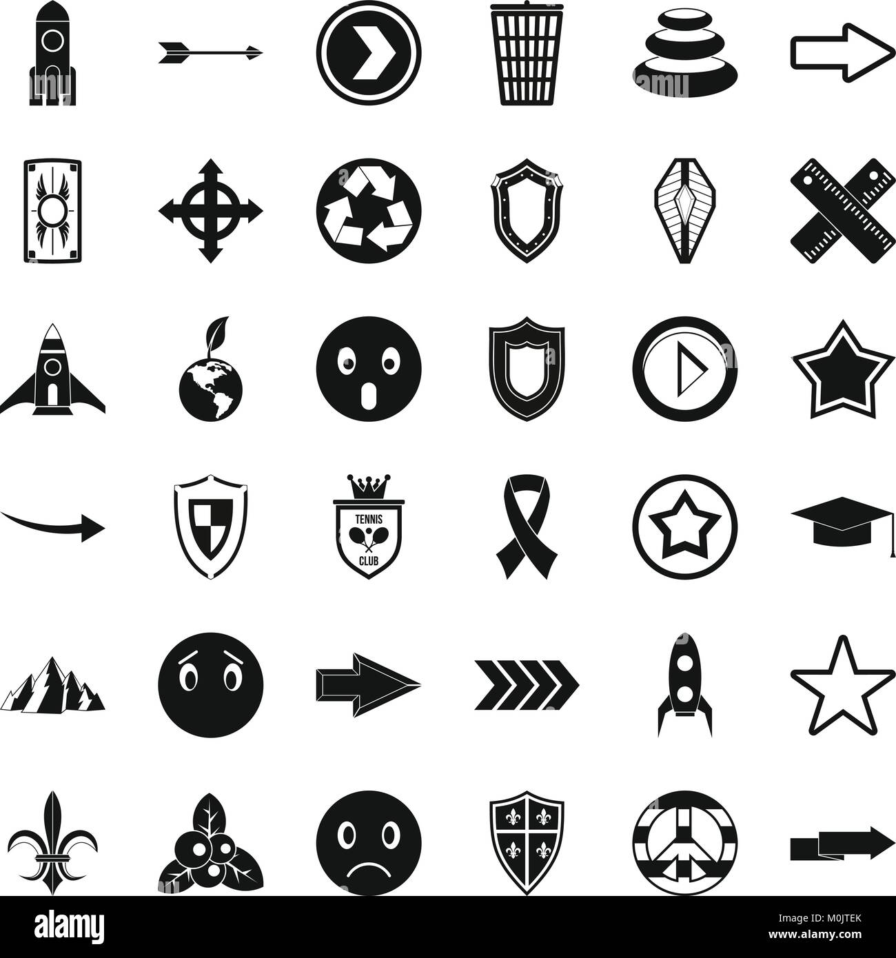 Il nome del marchio set di icone, stile semplice Immagini Stock