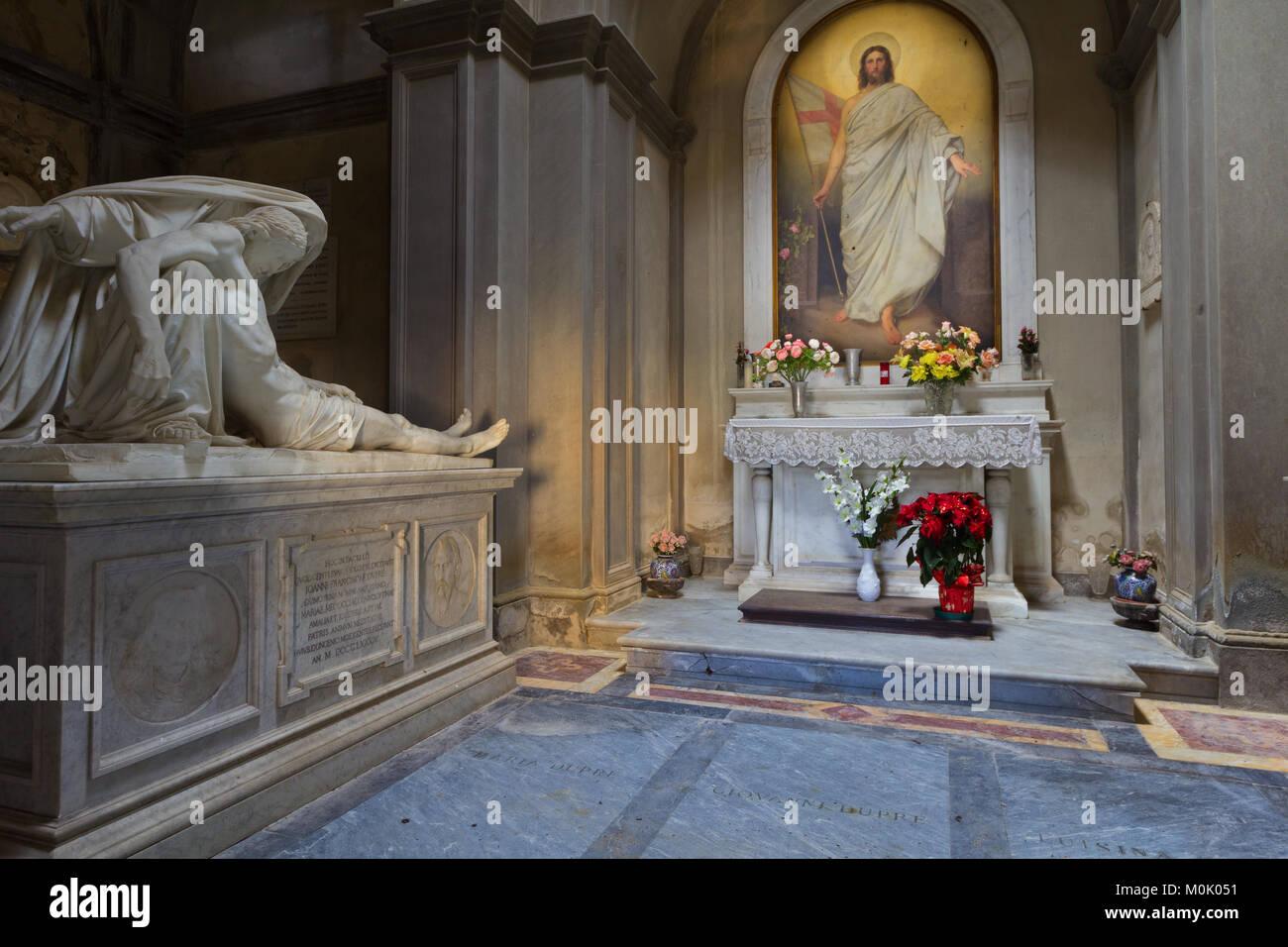 La morte e la risurrezione - La Cappella Dupré - Fiesole Immagini Stock