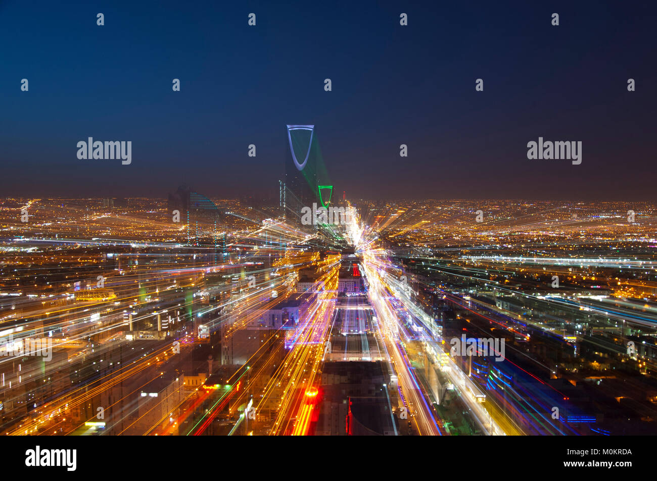 Riyadh skyline notturno n. 5 Immagini Stock