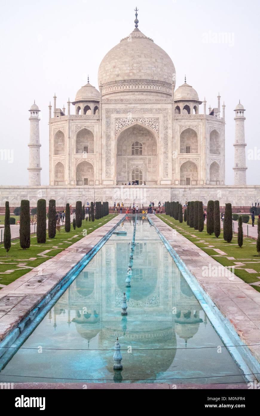 Taj Mahal Agra India Immagini Stock