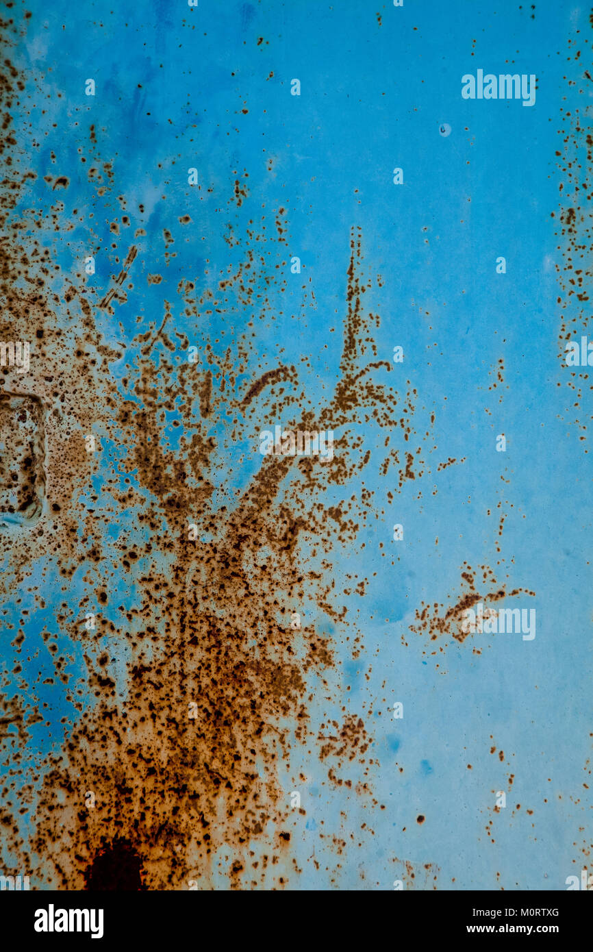 Texture E Sfondi Blu Metallizzato Di Parete Con Pareti Scrostate E