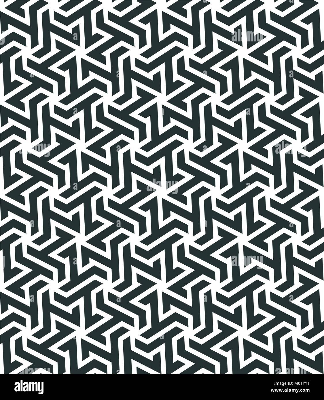 Modello Senza Cuciture Con Geometrica Tassellazione Stile Mosaico