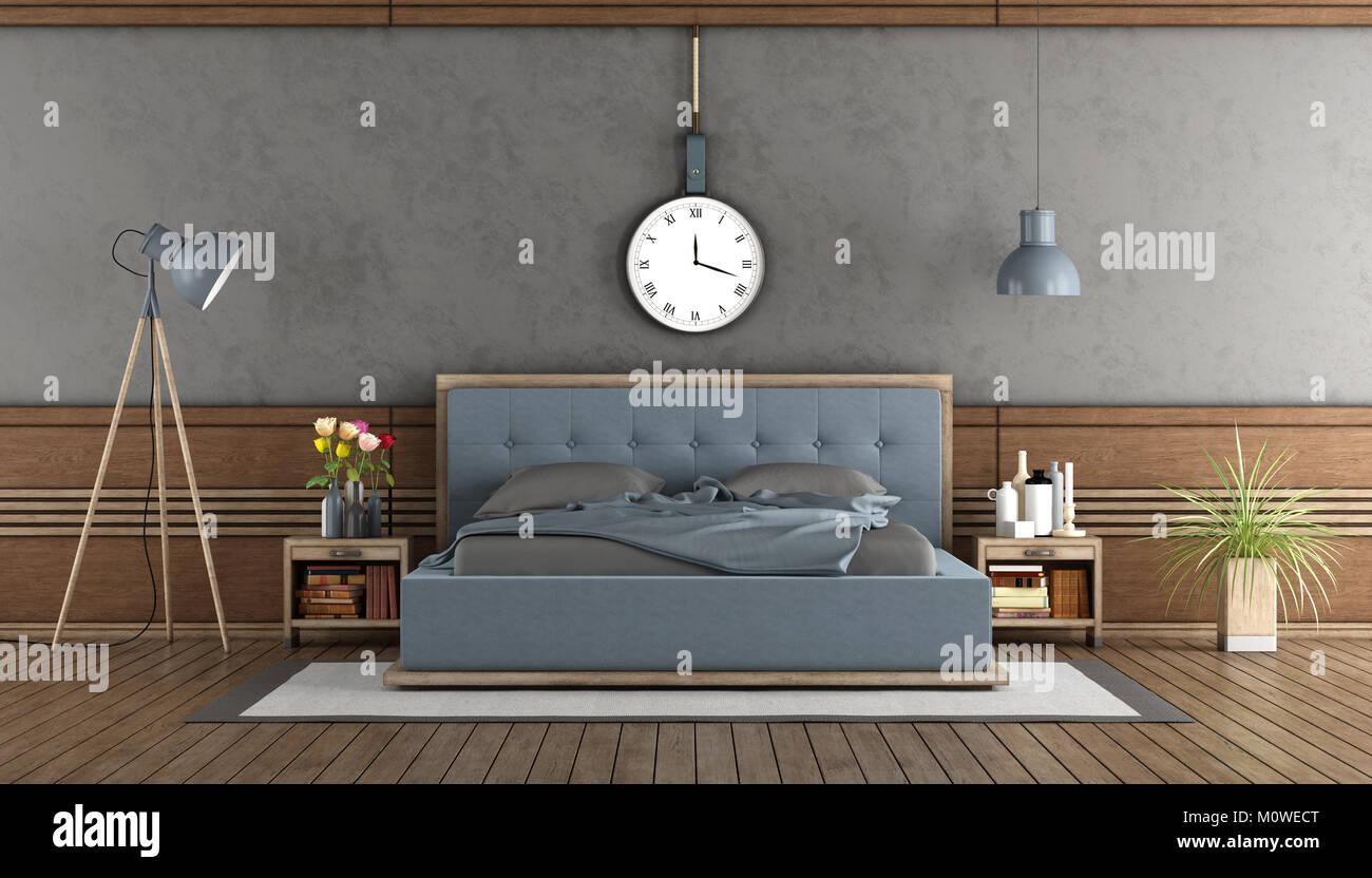 Camera Da Letto Con Boiserie : Elegante camera da letto padronale con camera da letto blu e