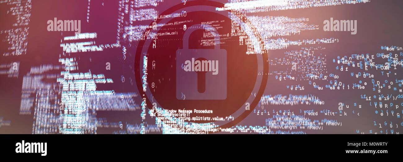 Immagine composita di icona a forma di lucchetto vettore Immagini Stock