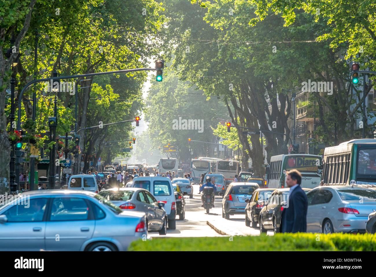 L'Argentina,provincia di Buenos Aires,Buenos Aires,Avenida de Mayo Immagini Stock