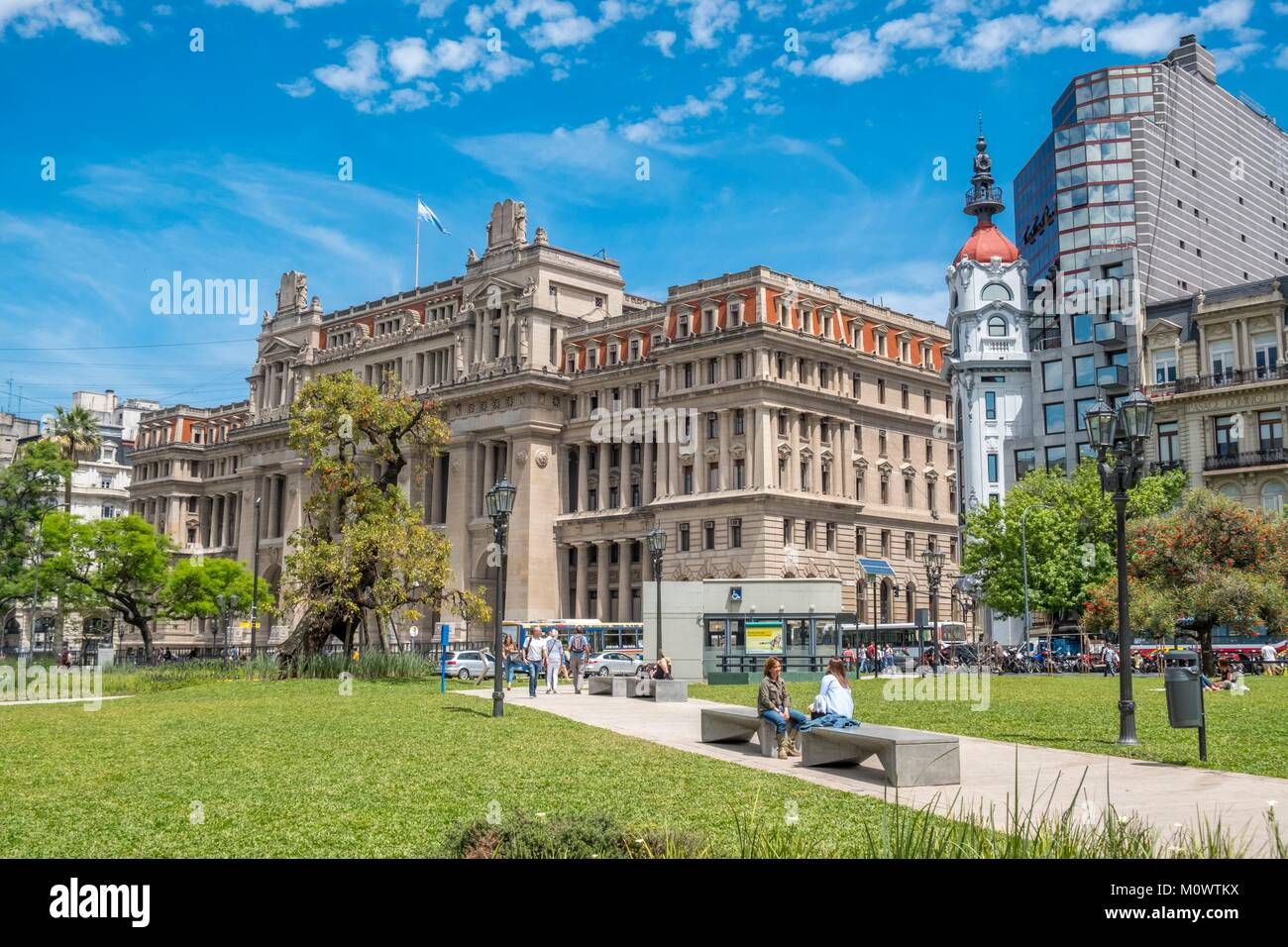 L'Argentina,provincia di Buenos Aires,Buenos Aires,Tribunales,plaza Lavalle Foto Stock