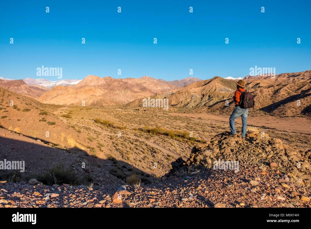 L'Argentina,San Juan provincia,Calingasta,Rio Valle di Calingasta Immagini Stock