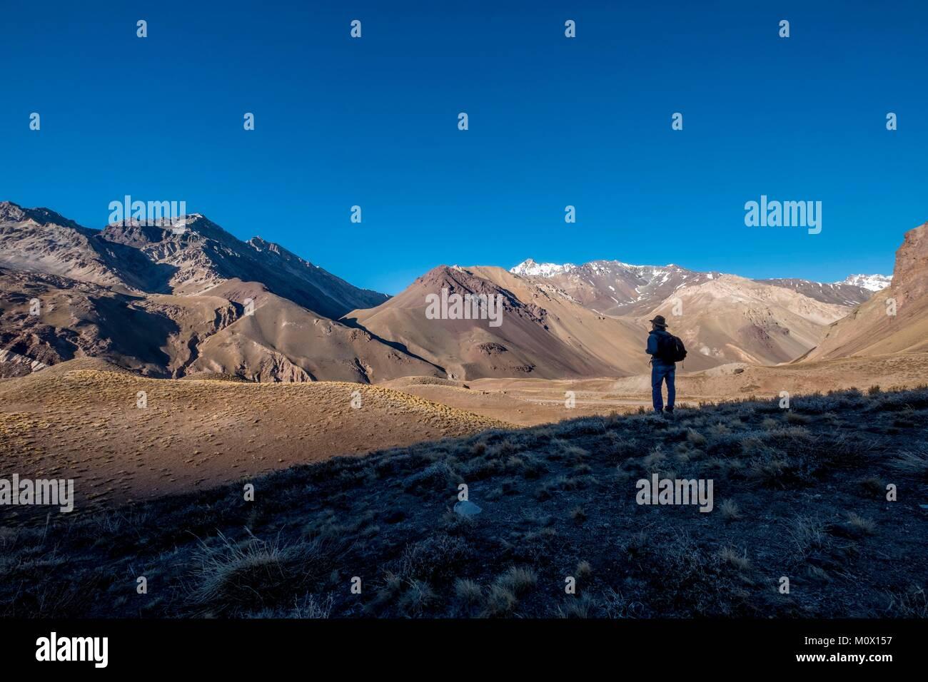 L'Argentina,provincia di Mendoza,Parco Aconcagua Immagini Stock