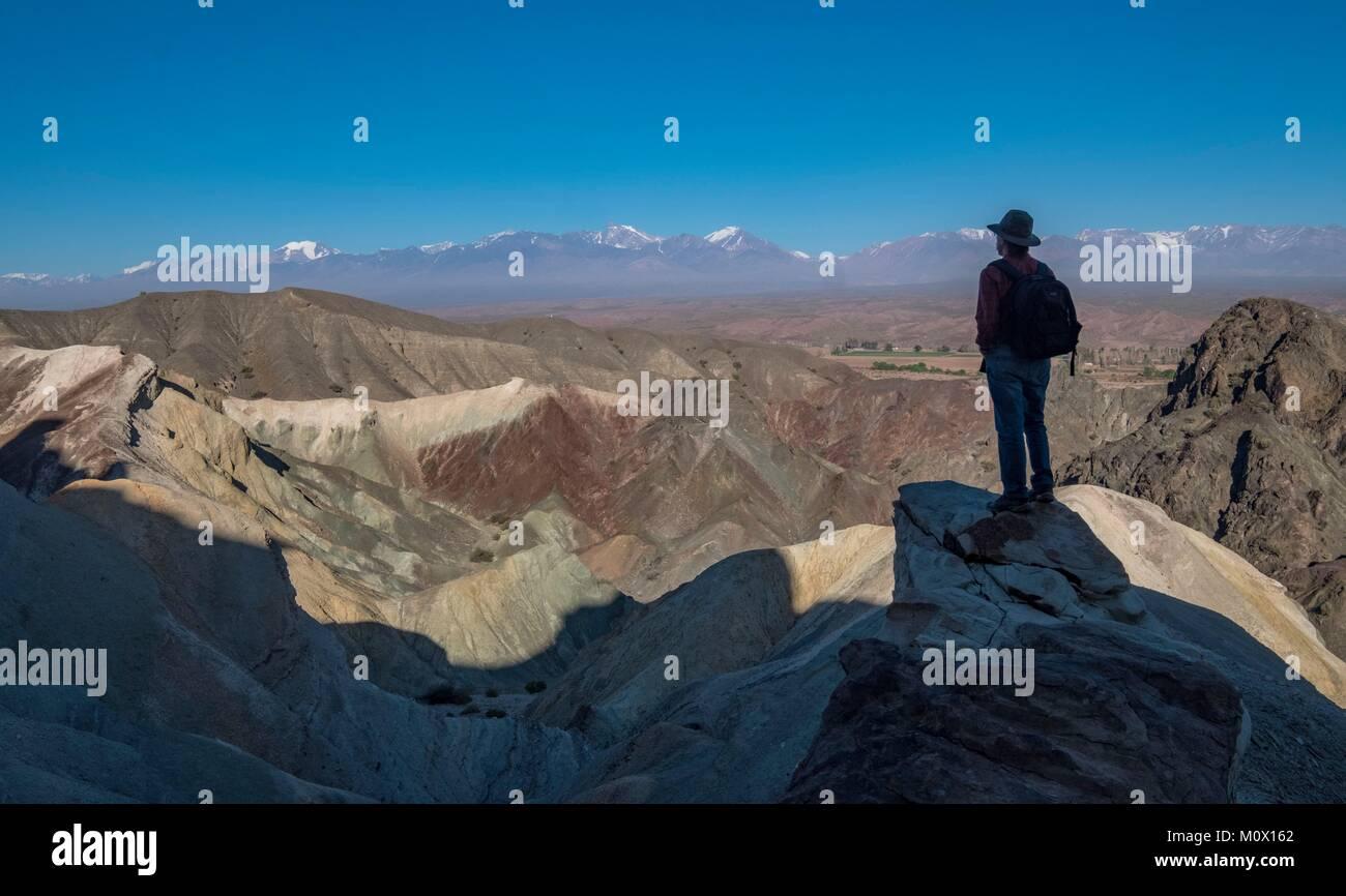 L'Argentina,San Juan provincia,Calingasta,Cerro El Alcazar park Immagini Stock