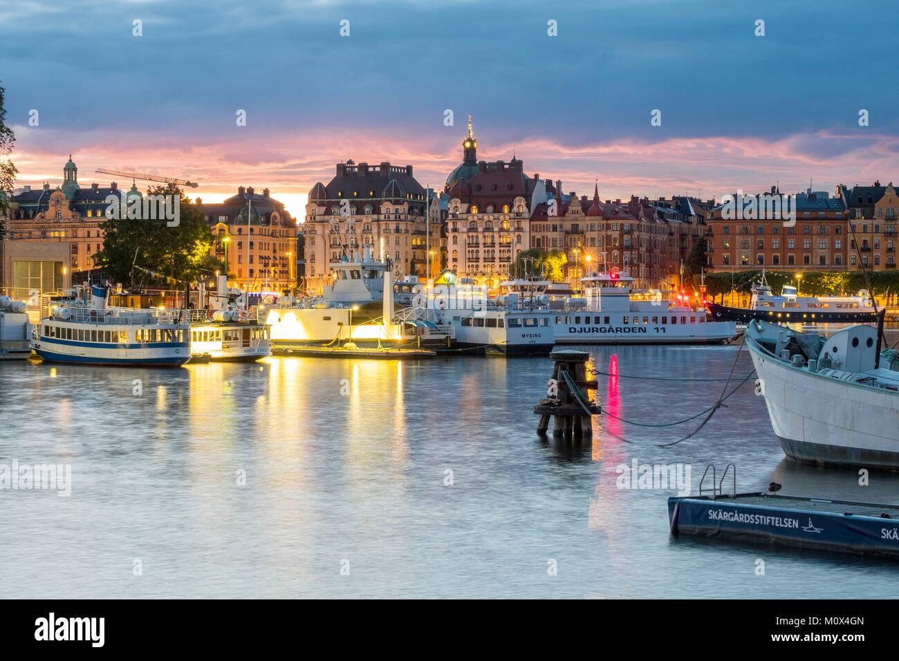 La Svezia,Stoccolma,Gamla Stan isola,la città vecchia Immagini Stock