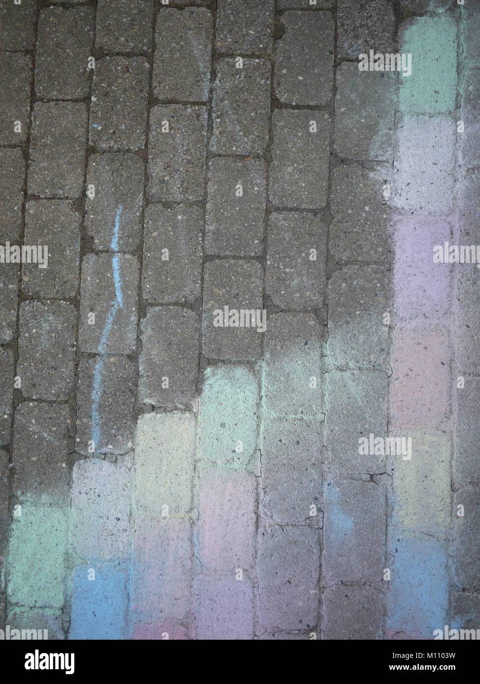 Foto sfocata chalk asfalto Immagini Stock