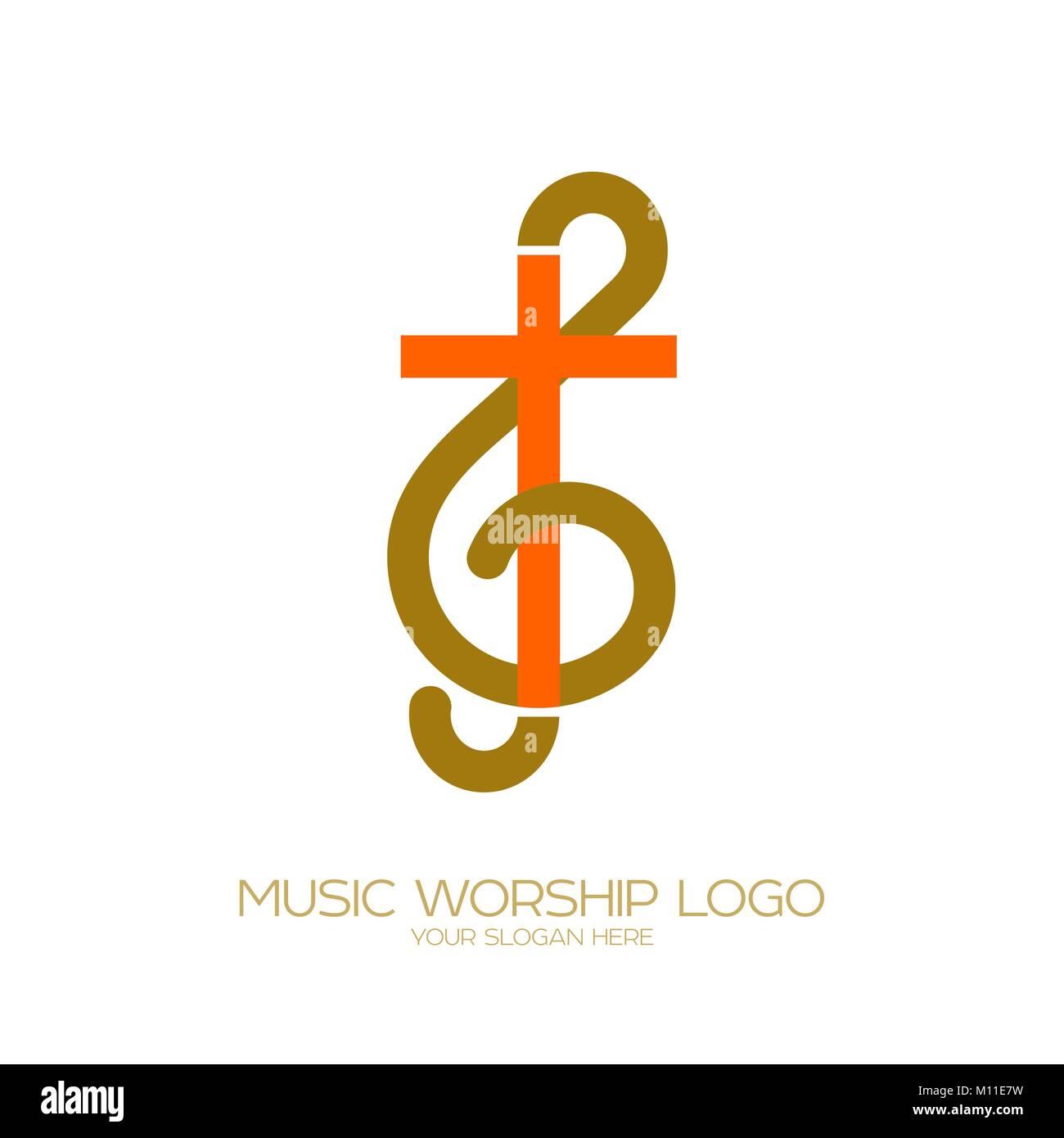 Il Logo Di Musica Simboli Cristiani La Combinazione Della Chiave