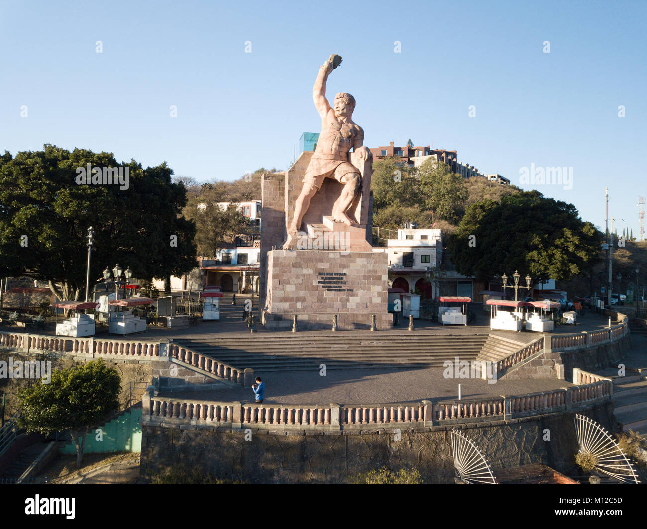 Monumento al Pipila, Statua di al Pipila, Guanajuato, Messico Immagini Stock