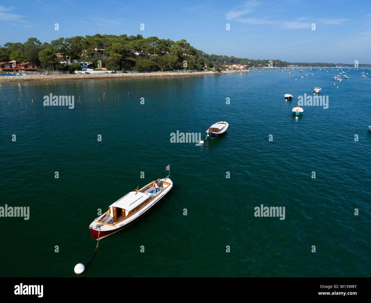 Francia, Gironde, Bassin d'Arcachon, Lege Cap Ferret, pinasse Immagini Stock