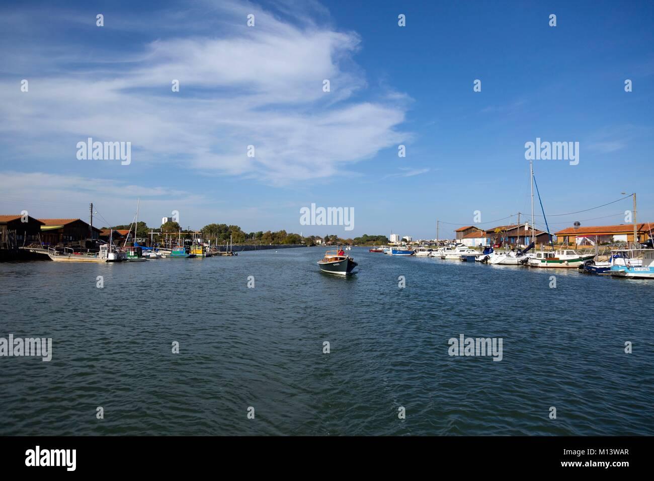 Francia, Gironde, Bassin d'Arcachon La Teste de Buch, porta oyster Immagini Stock