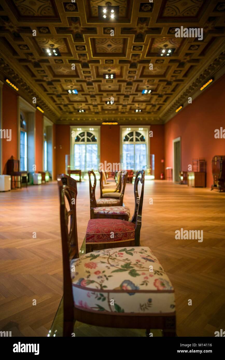 Austria, Vienna, il Museo delle Arti Applicate, MAK, storico arredi di design Immagini Stock
