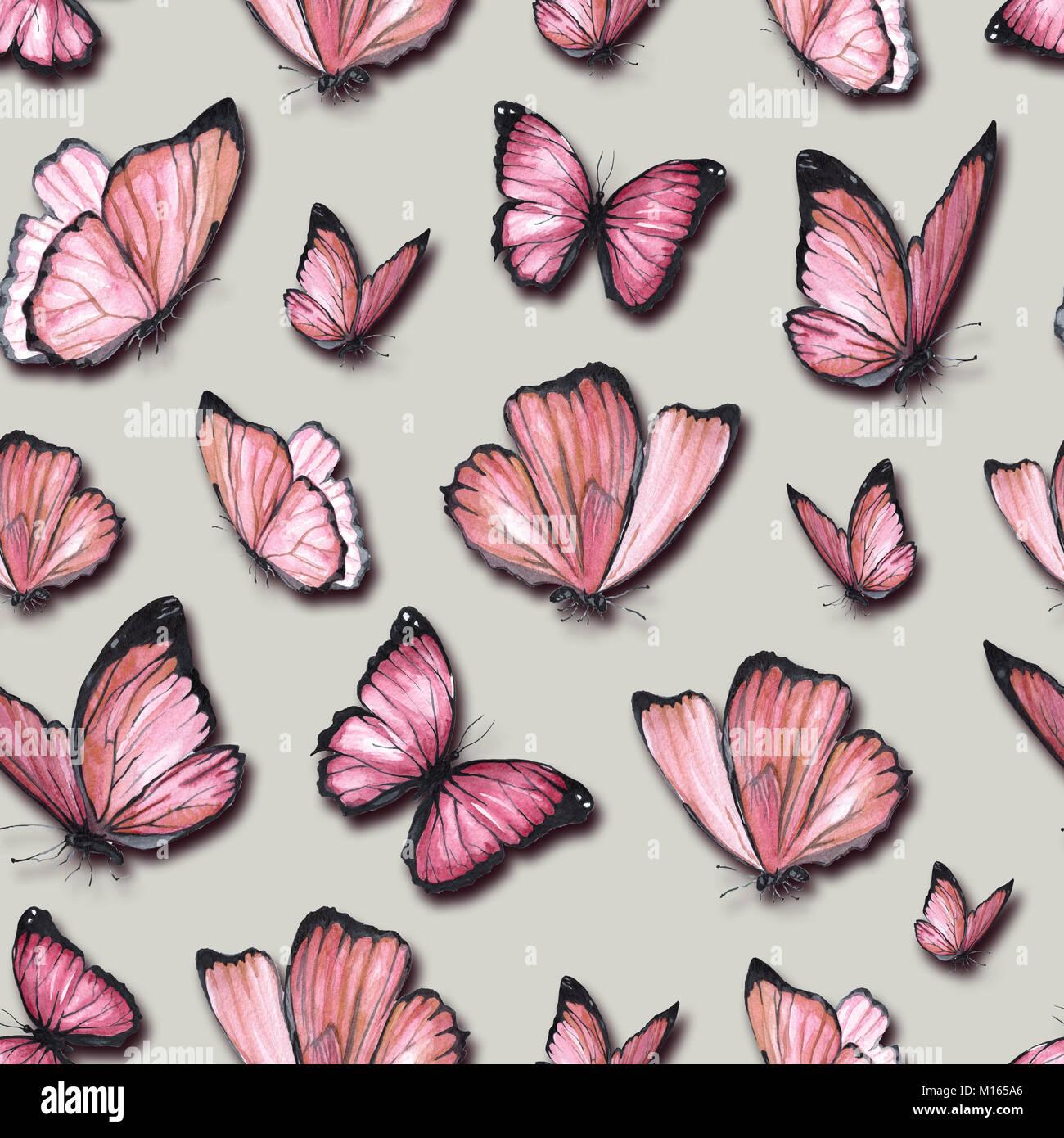 Disegno ad acquerello del dipinto di farfalle for Prodotti di design