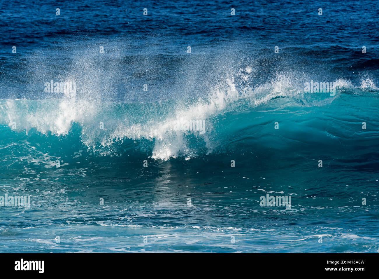 Navigare nell'Oceano Pacifico, l'isola di pasqua, Valparaiso, Cile, Polinesia, Oceania Foto Stock