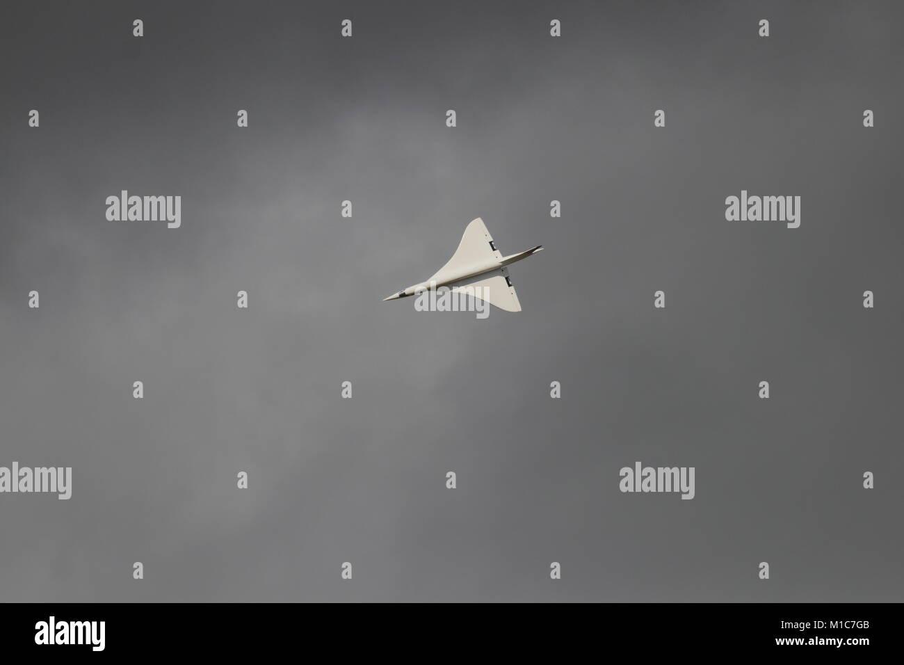 Di grandi dimensioni modello Concorde Foto Stock