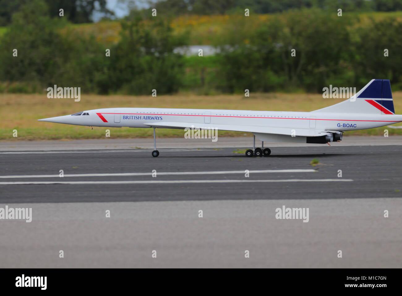 Di grandi dimensioni modello Concorde Immagini Stock