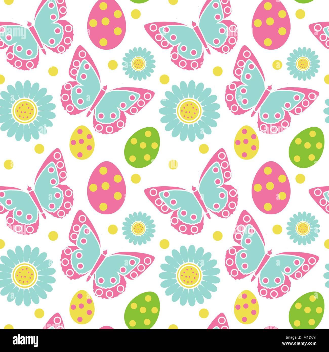 Carta Da Parati Bambini Texture.Carino Pasqua Pattern Senza Giunture Molla Texture Ripetitive