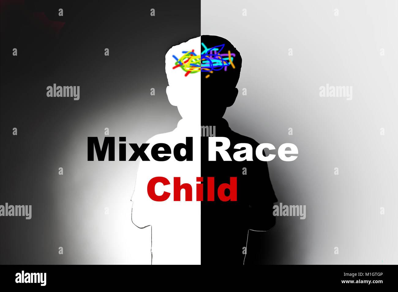 Razza mista bambini eredità etnica e la discriminazione razziale, la minoranza etnica Immagini Stock