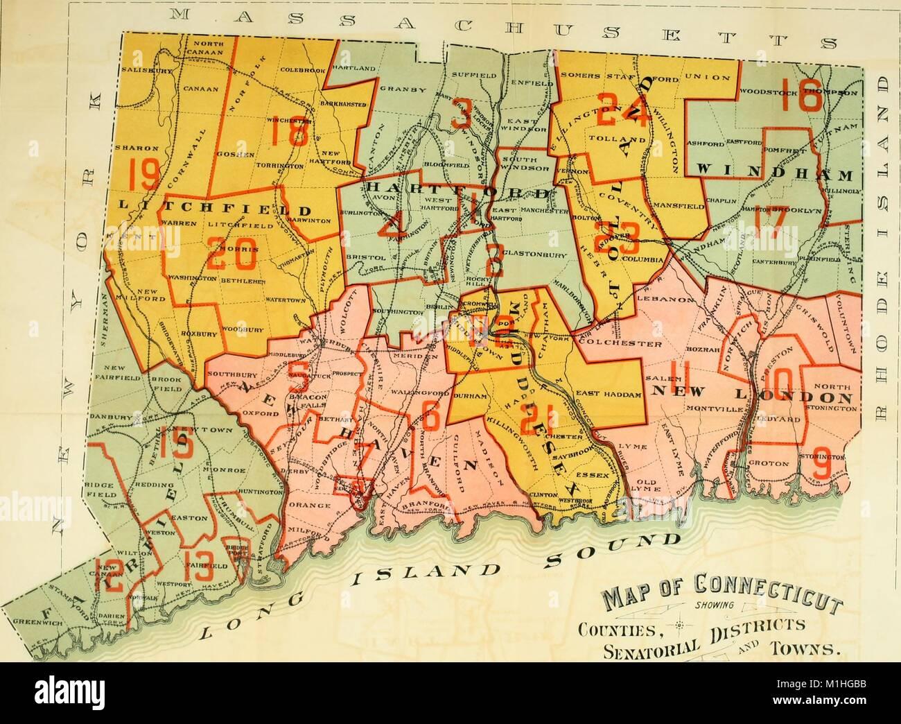 Mappa politico dello stato americano del connecticut con for Il tuo account e stato attaccato