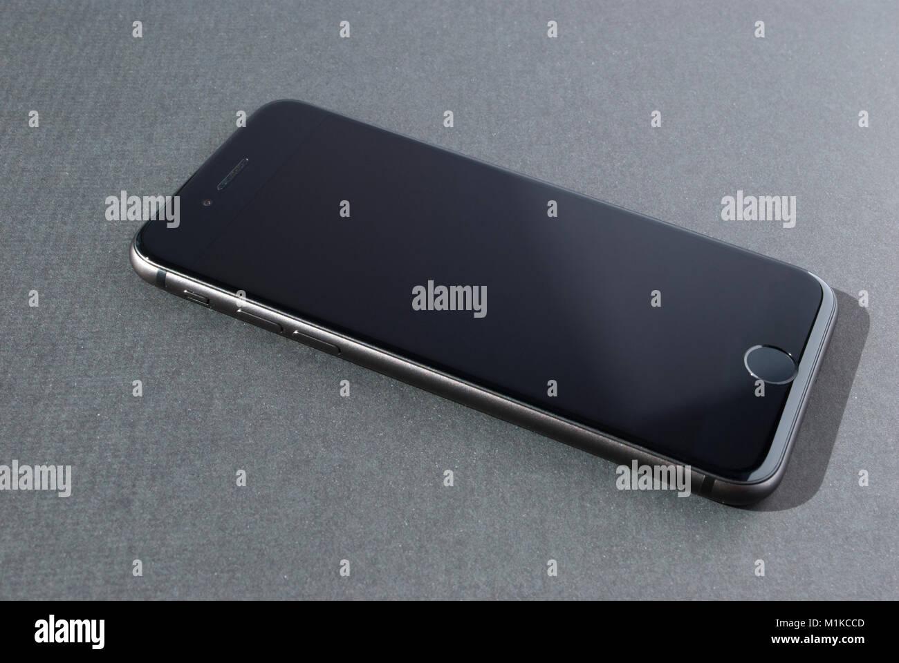 Nuova smart phone isolato Immagini Stock